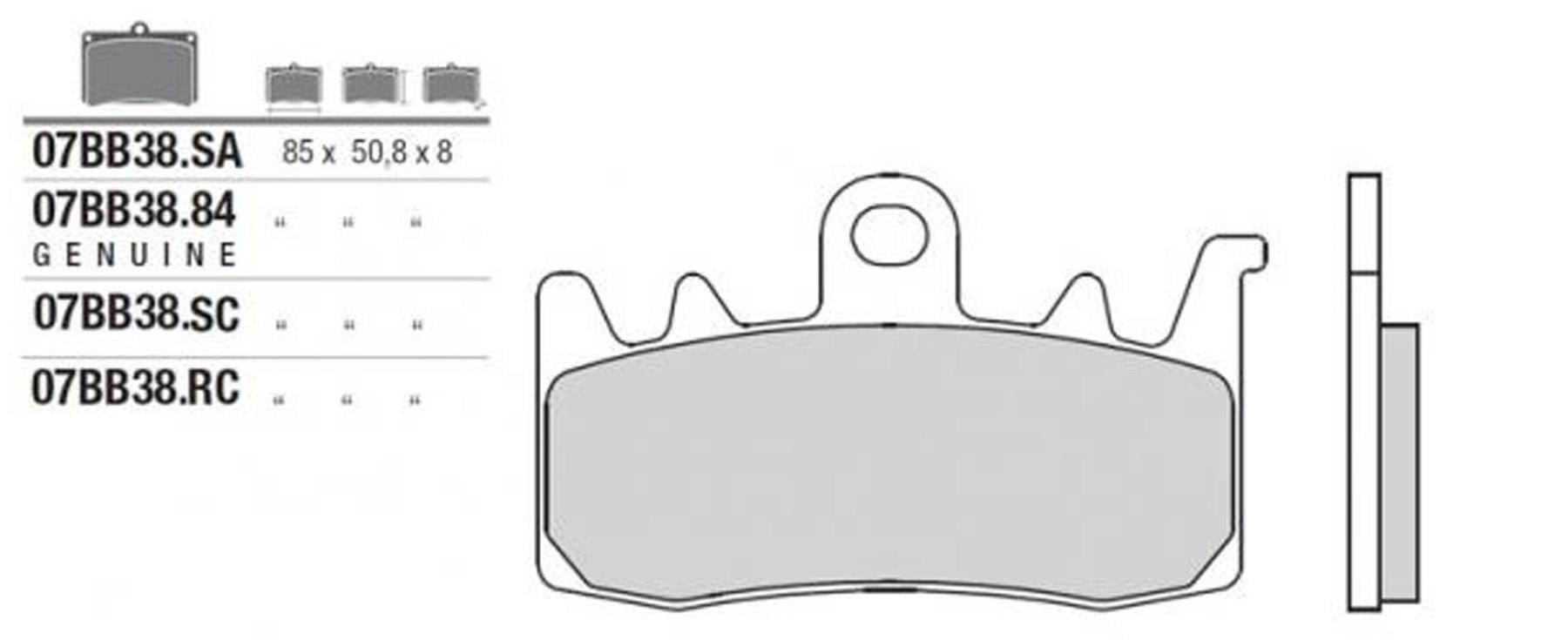 BMW R1200rt R1200s R1200rt Edelstahl Stahl Vorne Bremssattel Bremsbelag Stift