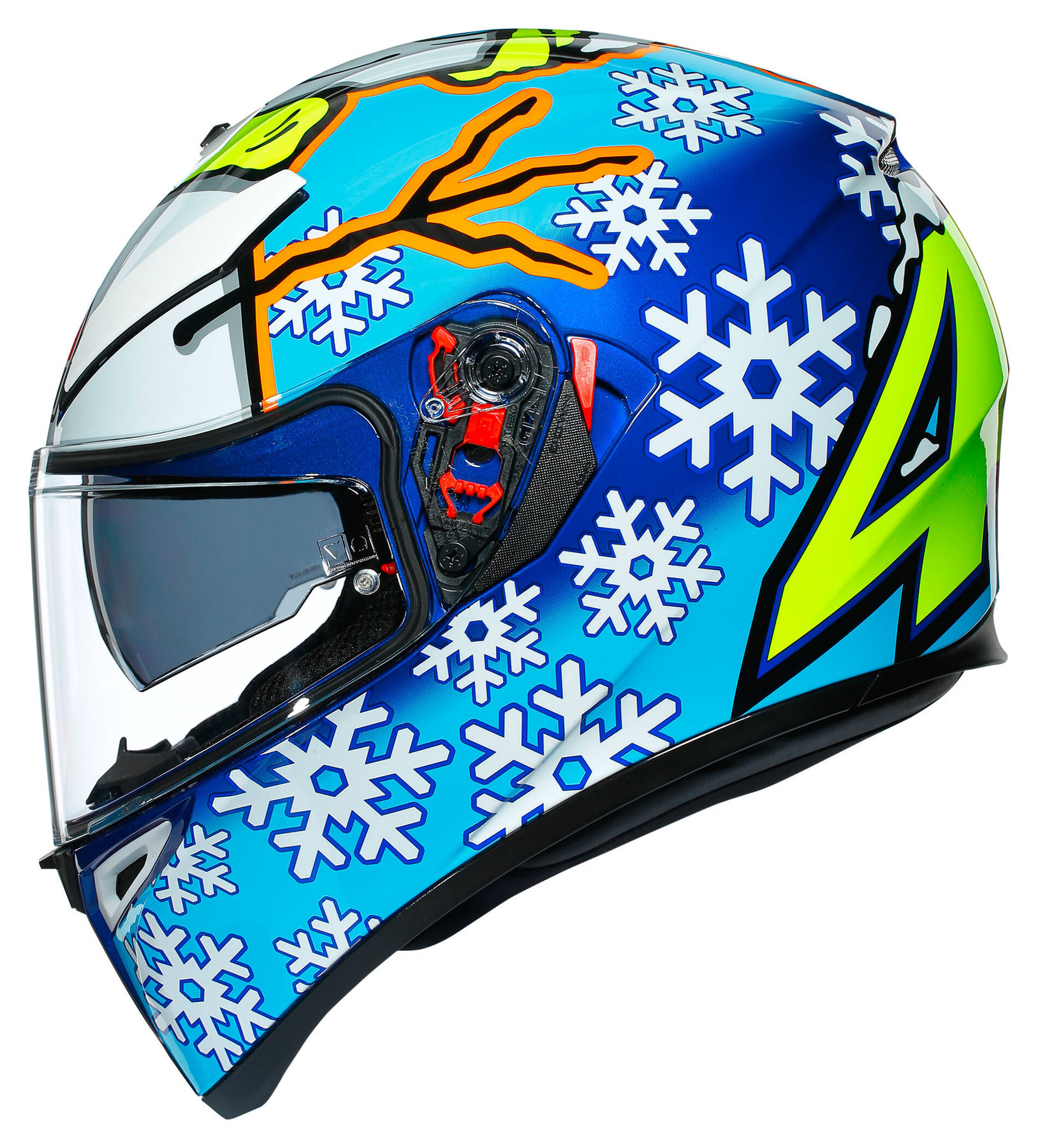 Buy Agv K3 Sv Rossi Wintertest 2016 Full Face Helmet Louis Motorcycle Clothing And Technology