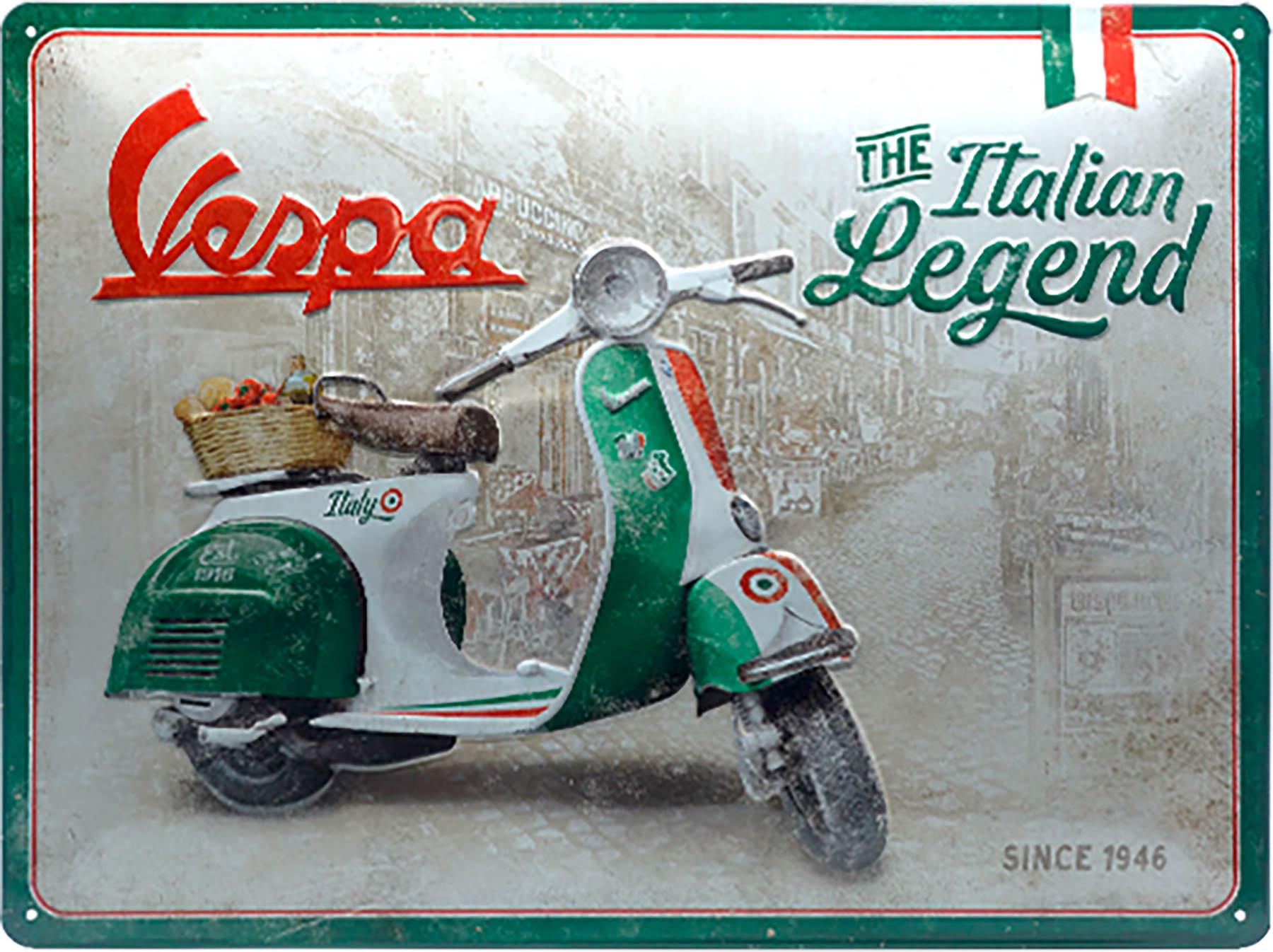 Vespa Scooters Targhe in Latta Avvertimento di Arte retr/ò Dipinto di Ferro Vintage Decorazione murale di Metallo per Strada Store Cafe Bar Home