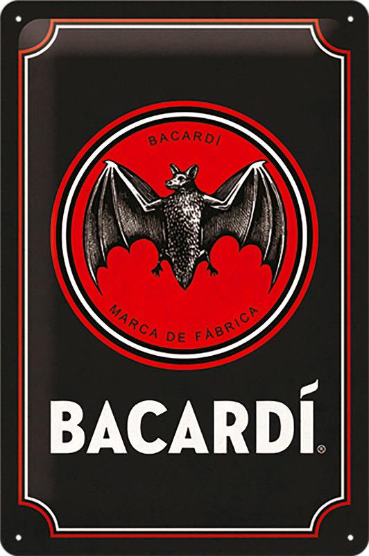 BLECHSCHILD *BACARDI*