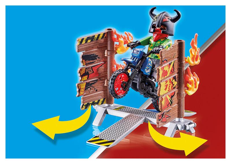 PLAYMOBIL MOTORRAD STUNT-