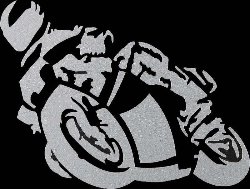 AUFKLEBER MOTORRAD SILBER