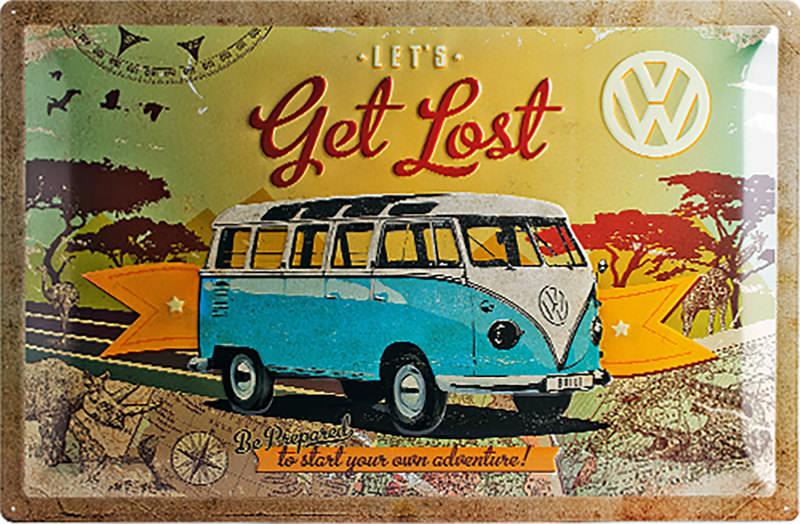 METAL TIN-SIGN VW BUS