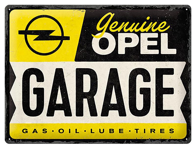 TIN-SIGN OPEL GARAGE