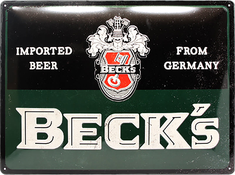 METAL SIGN BECKS VINTAGE