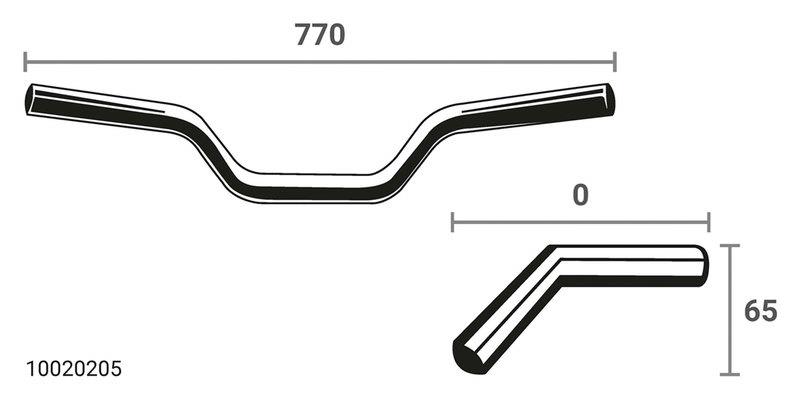 LSL X01 SUPERBIKE HANDLE-