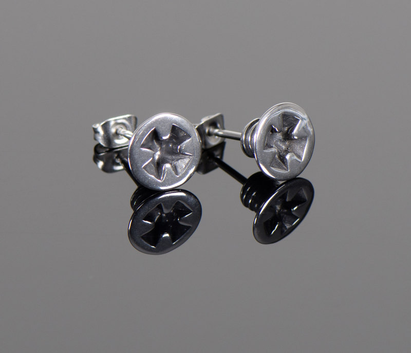 *CROSS SCREW* EAR STUDS