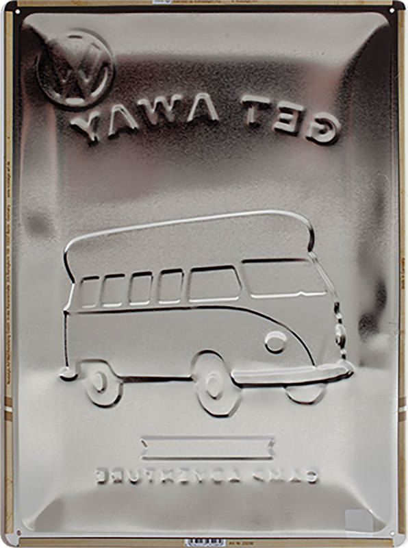 METAL TIN-SIGN VW BUS