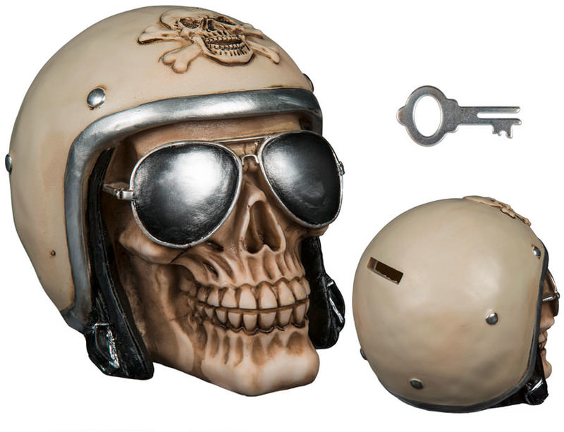 SKULL MONEY BOX WITH