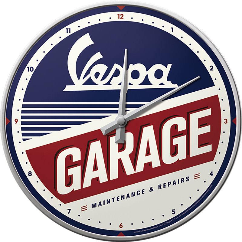 WALLCLOCK VESPA GARAGE