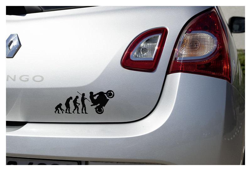 AUFKLEBER BIKER EVOLUTION