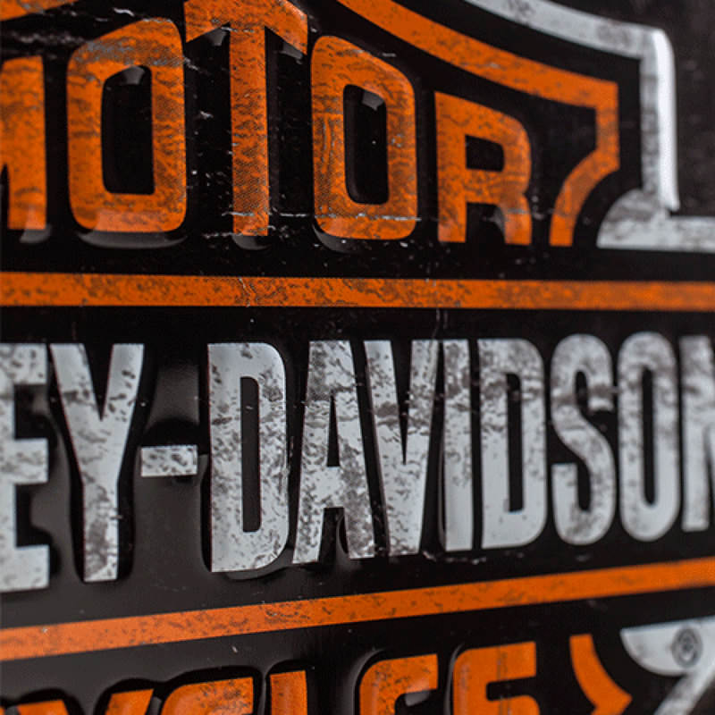 METAL TIN-SIGN HARLEY